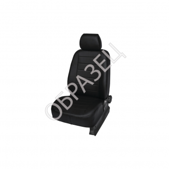 Авточехлы ЭкоКожа (MBL) Chevrolet Cruze Sd, Hb, Sw задняя спинка раздельная, рисунок Строчка цвет: черный 2009-
