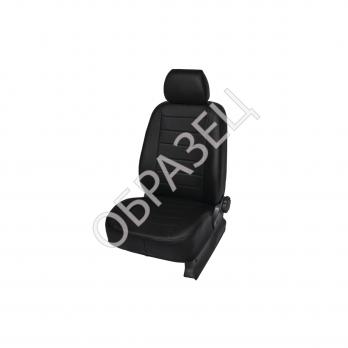 Авточехлы ЭкоКожа (MBL) Datsun On-Do Sd задняя спинка цельная, рисунок Строчка цвет: черный 2014-