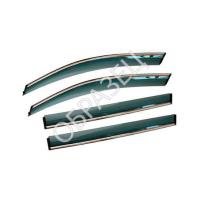 Дефлекторы окон (ALVI-STYLE) HYUNDAI SANTA FE III 2012- (нержавеющий молдинг)
