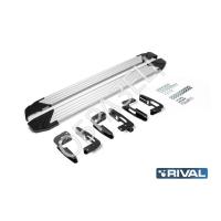 """Комплект порогов """"Silver"""" new (RIVAL) AUDI Q7 2015-"""