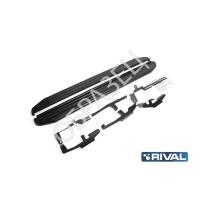 """Комплект порогов """"Black"""" new (RIVAL) AUDI Q7 2015-"""