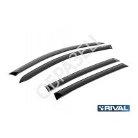 Дефлекторы окон (RIVAL) Hyundai Elantra 2010-2016