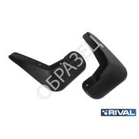 Брызговики (RIVAL) Nissan Almera 2013- задние