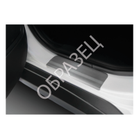 Накладки порогов хром (RIVAL) Ваз Лада  Chevrolet Niva  2009-